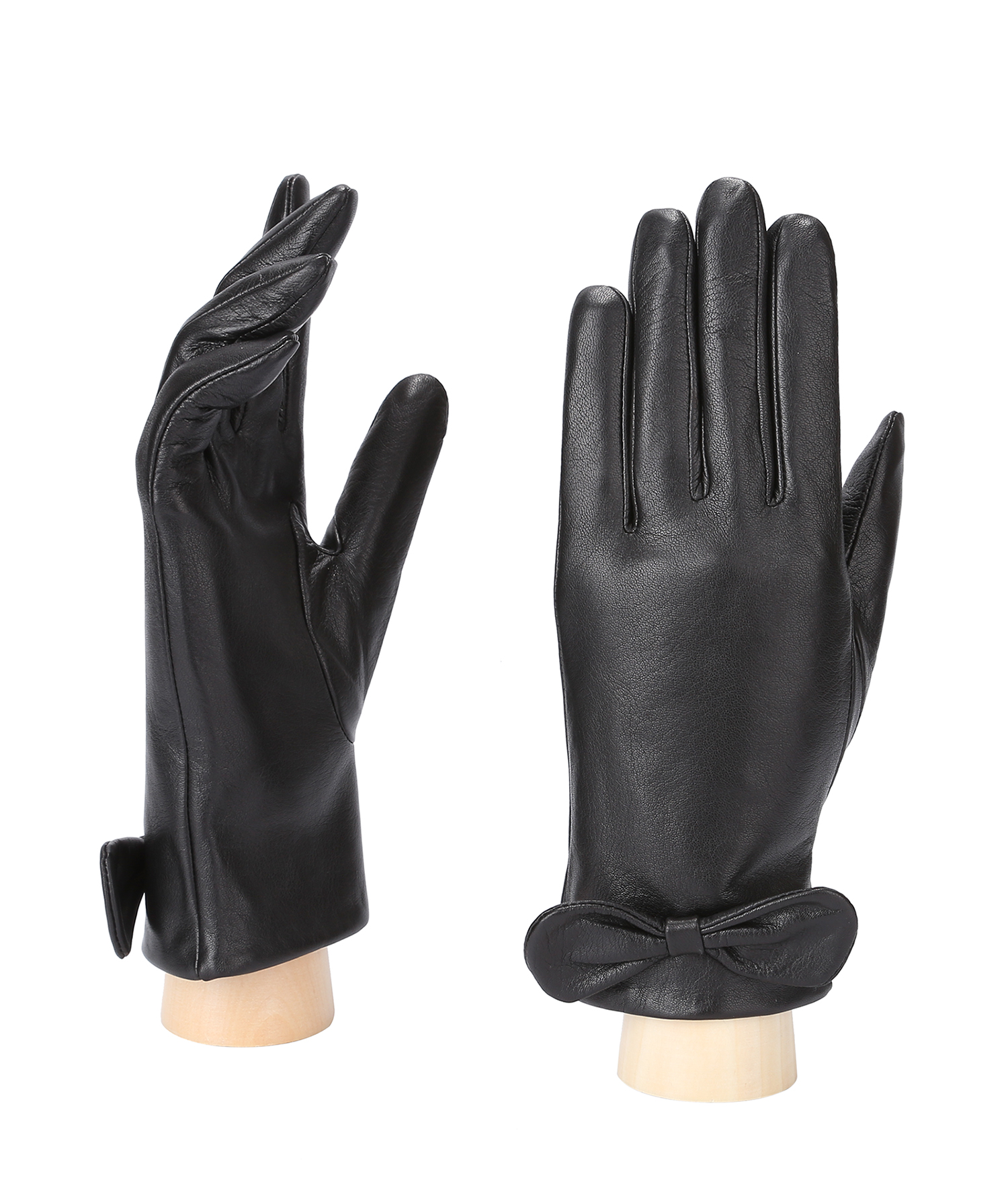 MoDA Women's Ms. Copenhagen Genuine Leather Fully Lined Winter Gloves C0135 Black