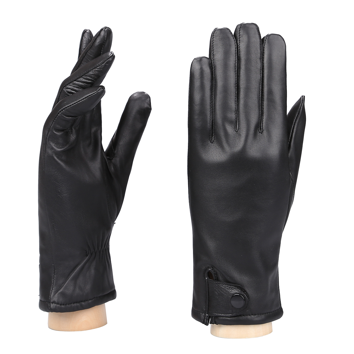 MoDA Women's Ms. Philadelphia Genuine Leather Fully Lined Winter Gloves C0144 Black L