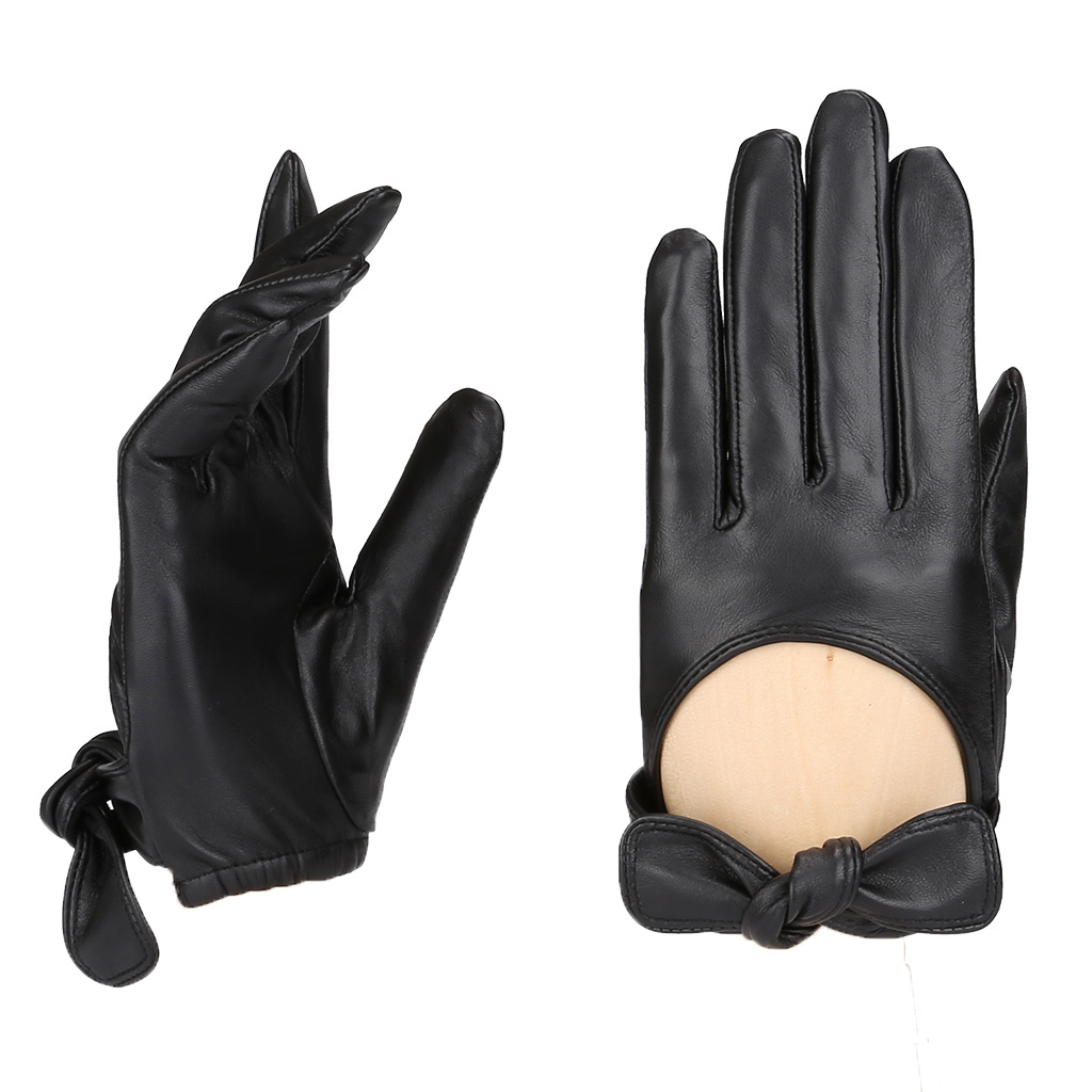 MoDA Women's Ms. New York Genuine Leather Fully Lined Winter Gloves C0148 Black