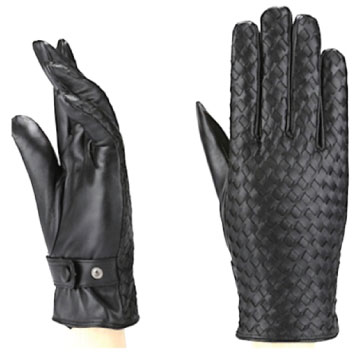 MoDA Ms. Alps Women's Woven Genuine Leather Winter Driving Gloves Designer Limited Edition C0189 Black XL
