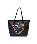 MoDA Tote with flowers in heart shape