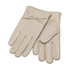 MoDA Ms Barcelona Womens Genuine Leather Assorted Colors Cold Weather Gloves with Bow C0101 Cream