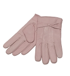 MoDA Ms Barcelona Womens Genuine Leather Assorted Colors Cold Weather Gloves with Bow C0101 Pink