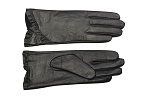 MoDA Women's Ms. Montreal Chic Ruffle Leather Driving Gloves C0161 Black