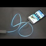 3ft Visible Flowing LED USB Cable Sync Data Fast Charger Cord for Android phones