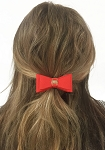 MODA 50'S Dolly Bow Hair Tie Hair Accessory Hair Band Set of 6 Assorted Colors