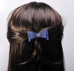 MoDA Leopard Print  Bow Tie Style Hair Tie Set of 6 Assorted Colors