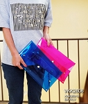 MoDA Rectangle Clear Clutch