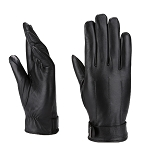 MoDA Mr. Green Bay Men's Fashionable Genuine Leather Driving Gloves C0175 Black