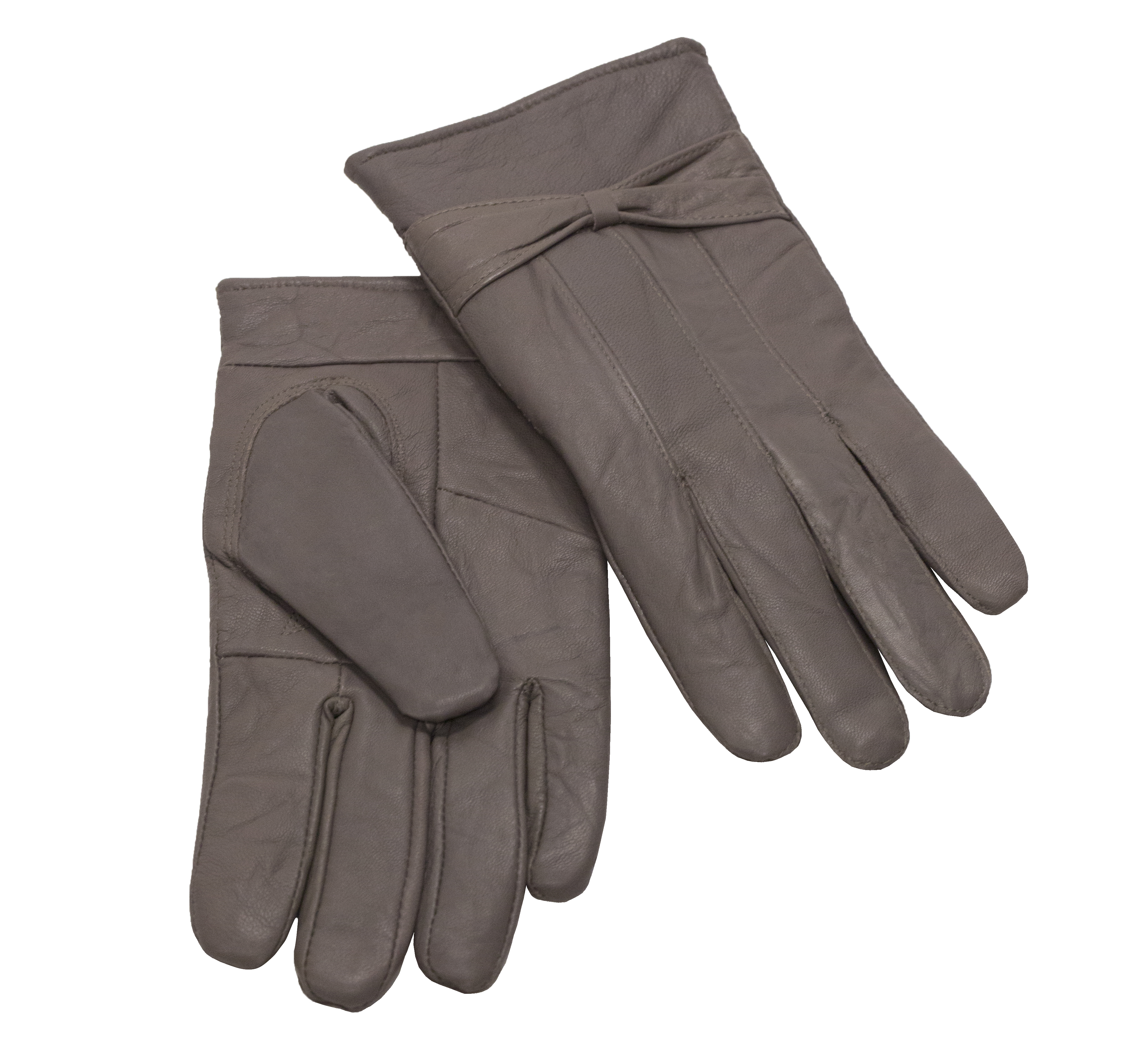 MoDA Ms Barcelona Womens Genuine Leather Assorted Colors Cold Weather Gloves with Bow C0101 Chocolate