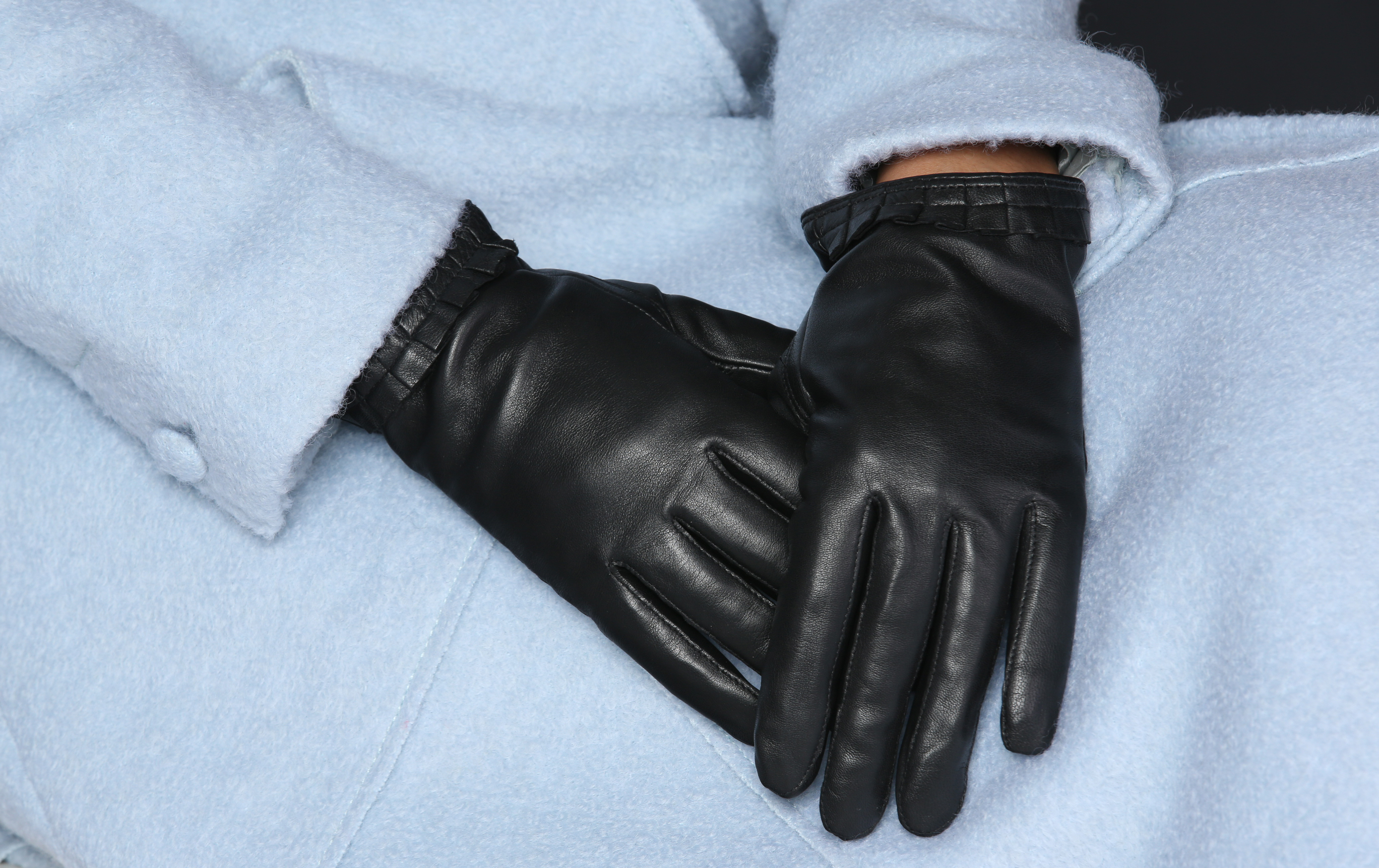 MoDA Women's Ms. Cologne Genuine Leather Fully Lined Winter Gloves C0134 Black