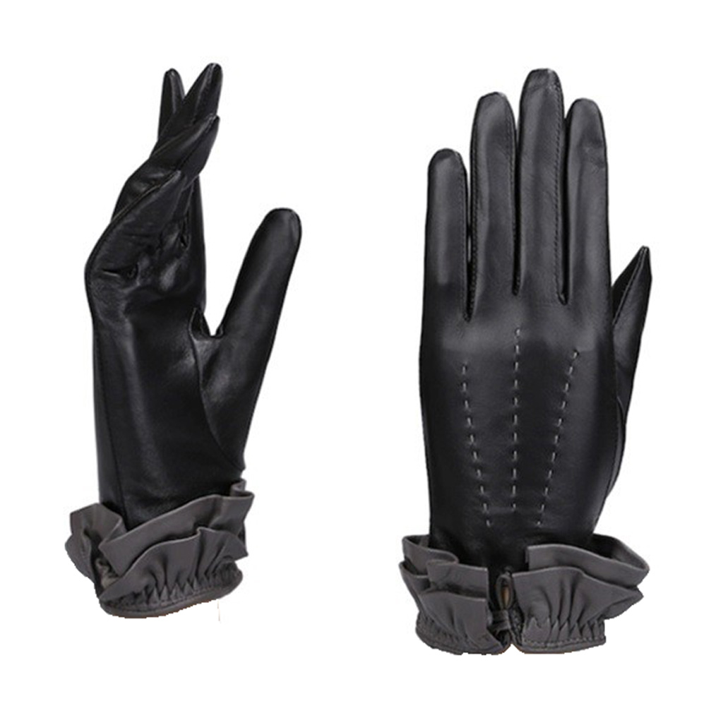 MoDA Women's Ms. Athens Genuine Leather Fully Lined Winter Gloves C0146