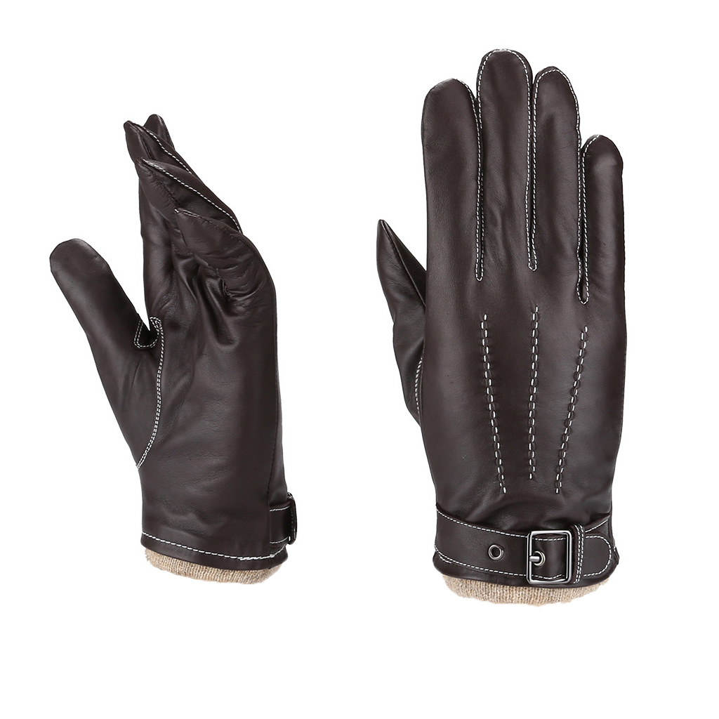 MoDA Mr. Salt Lake City Men's Genuine Leather Driving Gloves Wool Lining C0181