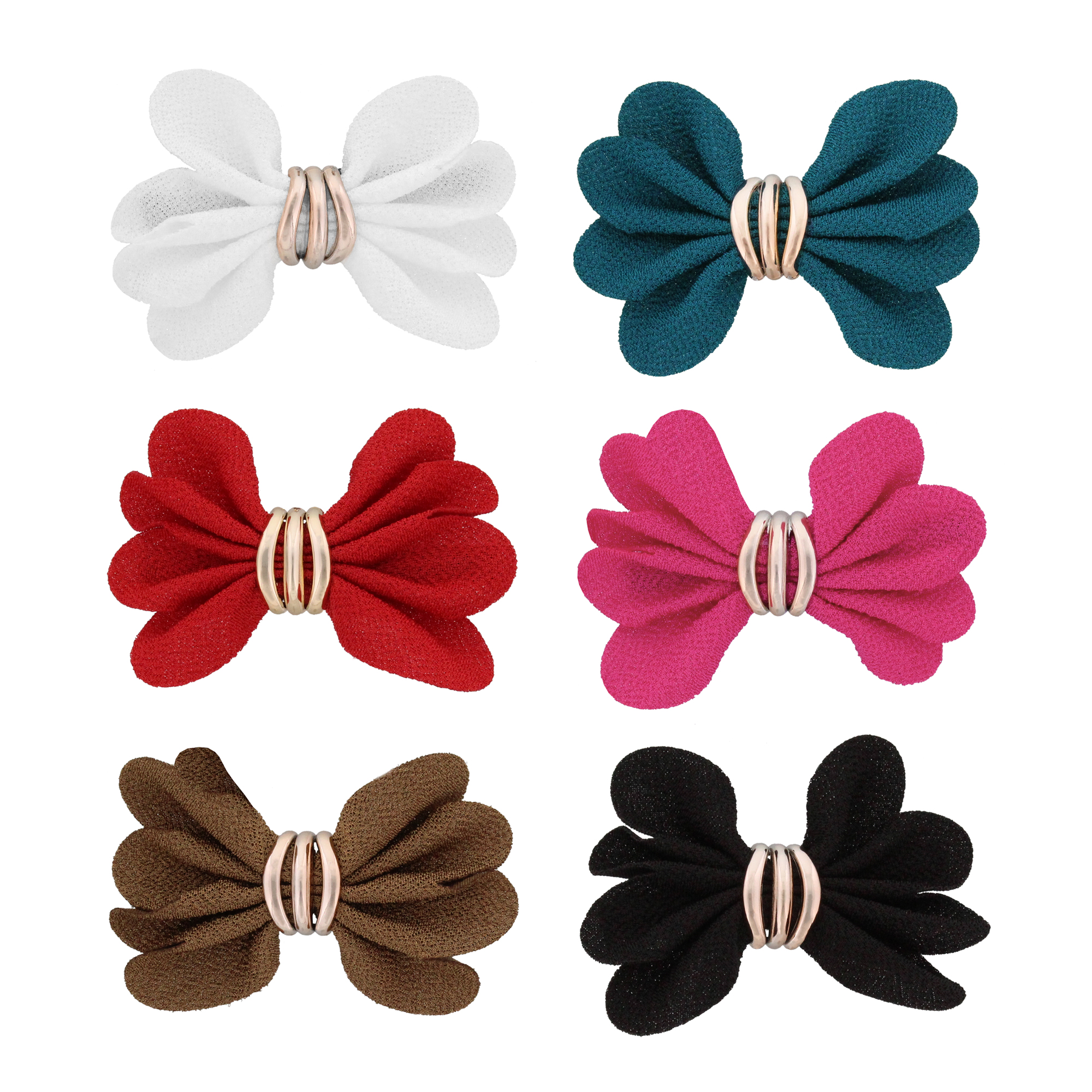 MoDA Large Hair Clips with a Set of 6 Assorted Colors H0150