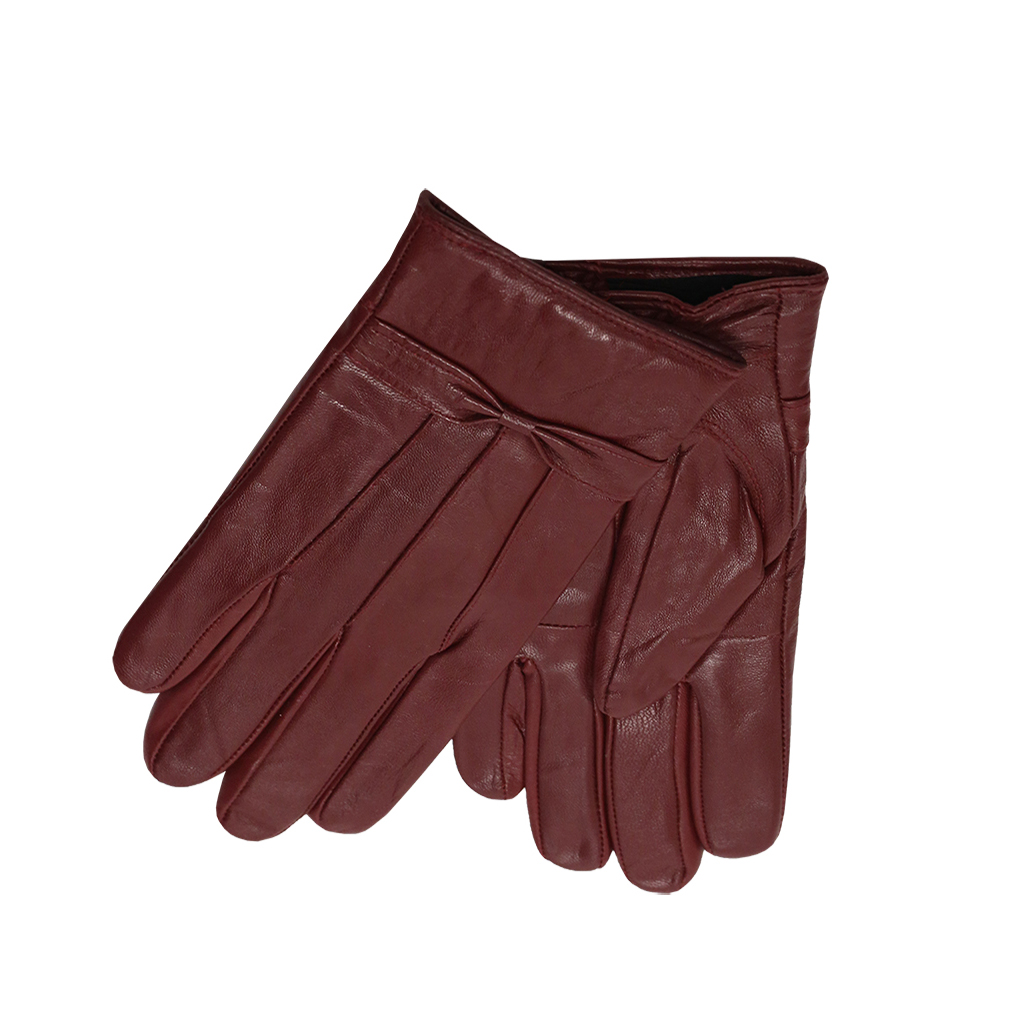 MoDA Ms Barcelona Womens Genuine Leather Assorted Colors Cold Weather Gloves with Bow C0101 Cranbury