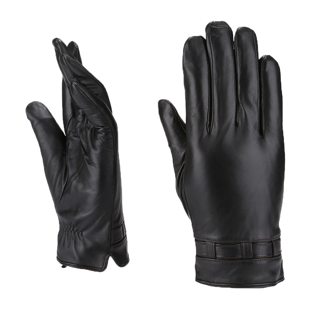 MoDA Men's Mr.Cincinnati Genuine Leather Gloves with Gift Pack C0187 Black