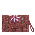 MoDA Straw Handbags Woven Straw Garden Party Clutch Summer Wristlet Purse