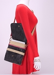 Popular MoDA Three Toned Canvas Cross Body Messenger Handbag Weekender Fashion Bag