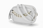 MoDA Women's Mini Faux Leather Chain Decor Cross Body Handbag Wristlet Purse