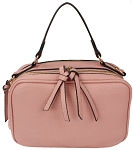 MODA Womens Faux Leather 2 Zip Around Compact Cross Body Shoulder Handbag