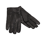 MoDA Ms Barcelona Womens Genuine Leather Assorted Colors Cold Weather Gloves with Bow C0101 Black