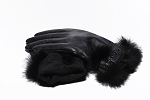 MoDA Women's Ms. Mosco Genuine Leather Fully Lined Winter Gloves C0136 Black M