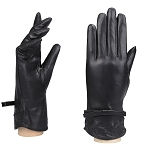 MoDA Women's Ms. Melbourne Genuine Leather Fully Lined Winter Gloves C0145 Black