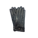 MoDA Mr Philadelphia Men's Leather Gloves with Touch Function for Texting Smart Phones C0172T Black