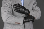 MoDA Men's Mr. Pittsburgh Men's Wrist Strap Leather Gloves C0182 Black