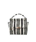 MoDA Snake Print satchel with metal hardware closure