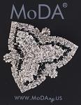 MoDA 2 Toned Leaf Shaped Rhinestone Gem Ponyo Set of 6 Assorted Colors
