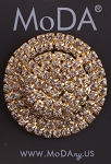 MoDA Round Cluster Shaped Rhinestone Gem Ponyo Set of 6 Assorted Colors