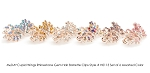 MoDA Cupid Wings Rhinestone Gem Large Hair Clips Set of 6 Assorted Colors