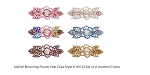 MoDA Blooming Flower Rhinestone Gem Large Hair Clips Set of 6 Assorted Colors