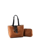 MoDA Bag in a Bag Buckle and Eyelet Large Tote