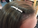 MoDA Diamond Shaped Hair Clips Rhinestone Gem  Set of 6 Assorted Colors